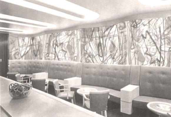Gorky Mural Bar - the Arshile Gorky mural measured 32' long. (photo: Museum of the City of New York)
